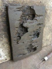 ผนังหิน จากโฟมขาว เลียนแบบธรรมชาติ