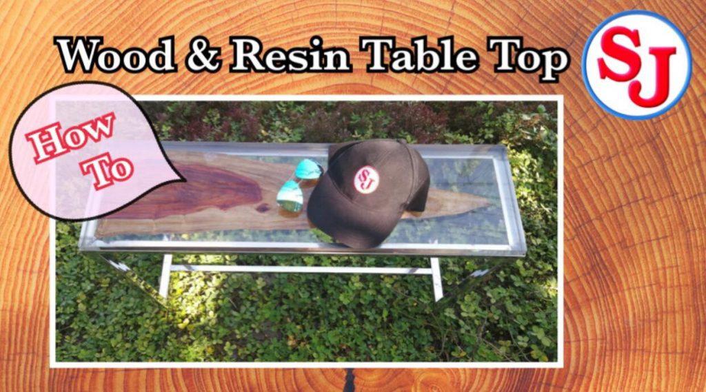 วิธีทำโต๊ะไม้ด้วยเรซิ่นหล่อใส (Wood and Resin Table Top)