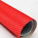 ผ้าคาร์บอน สีแดง Hybrid Kevlar Aluminum[Red]