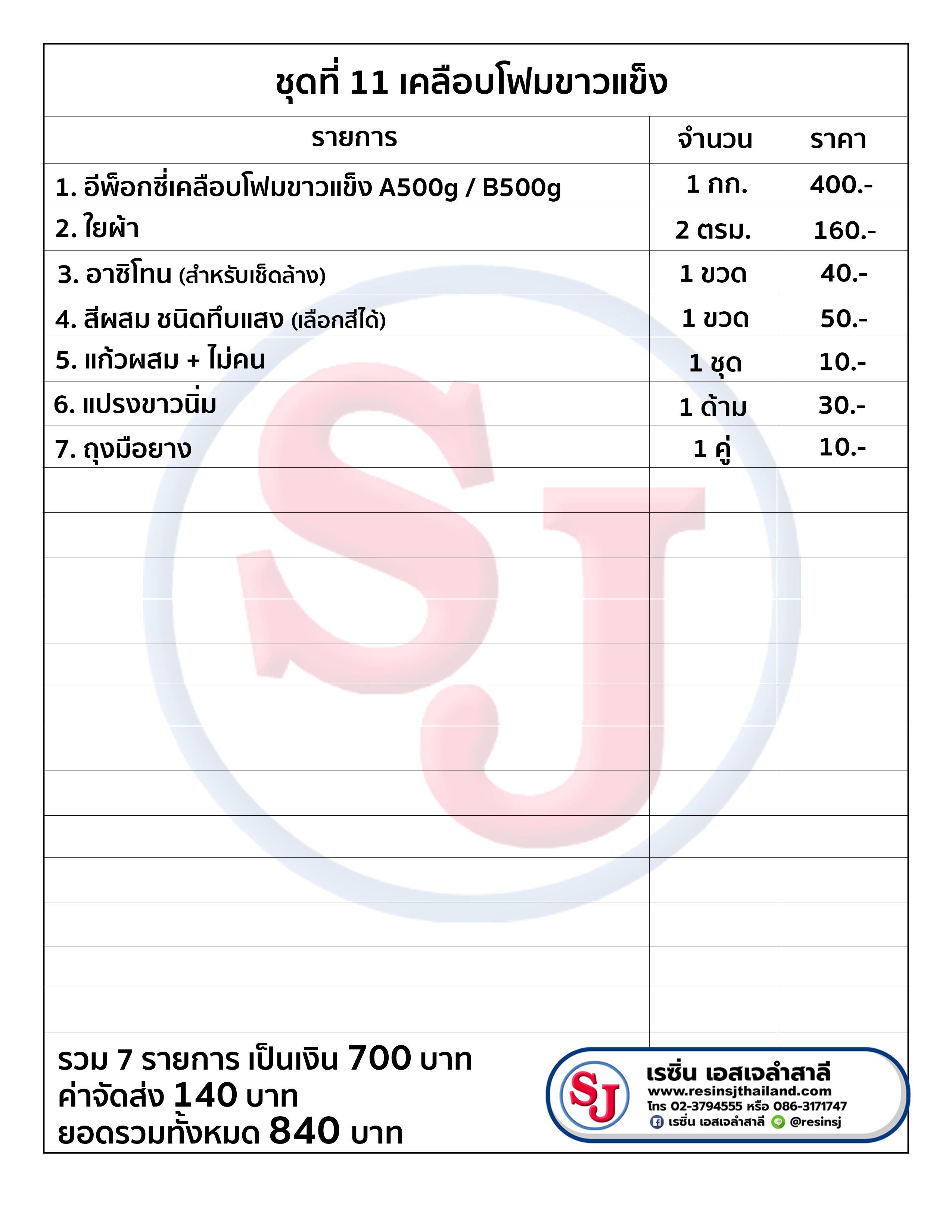 เคลือบโฟมขาว แข็ง,resinsj ,sj ,DIY ,resin,,epoxyresin ,epoxy, ,เรซิ่นเอสเจลำสาลี