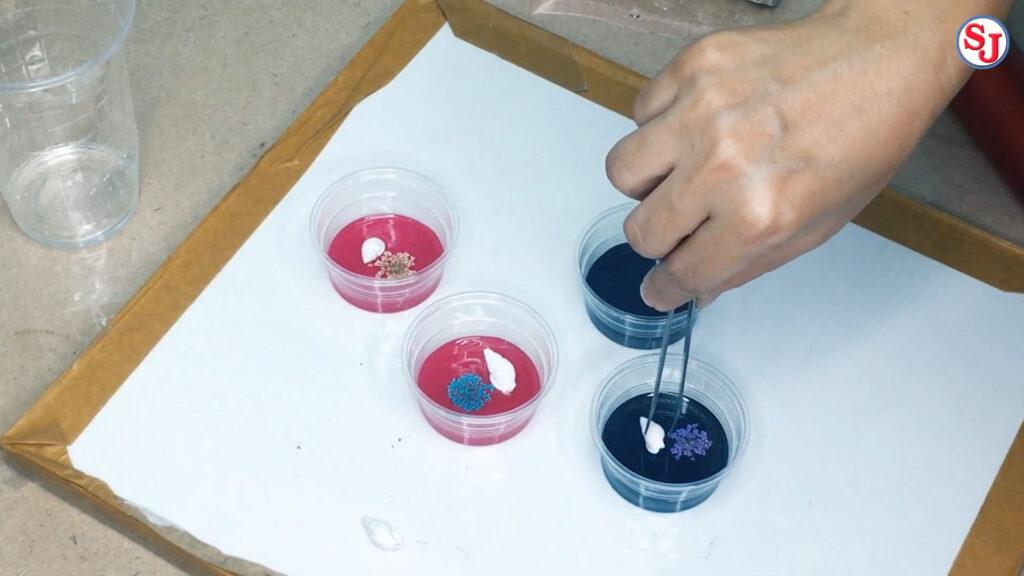 สร้างที่ทับกระดาษ ภาษาอังกฤษ ด้วยอีพ็อกซี่เรซิ่นและเปลือกหอย