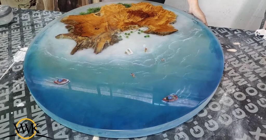 11.โต๊ะมหาสมุทรจากอีกพ็อกซี่และไม้