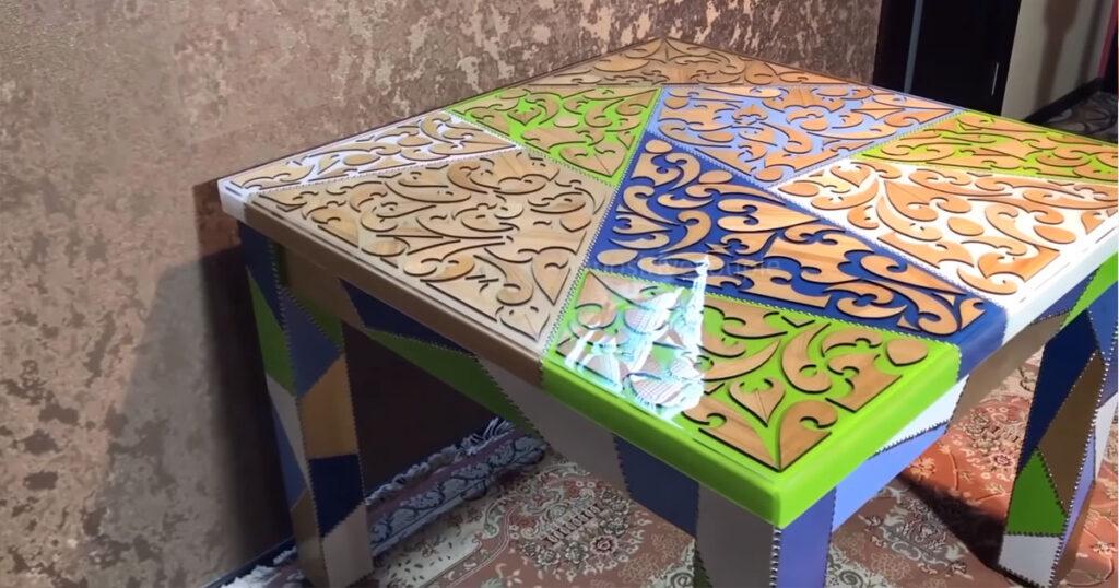 7.โต๊ะครัวลายสวยๆ เก๋